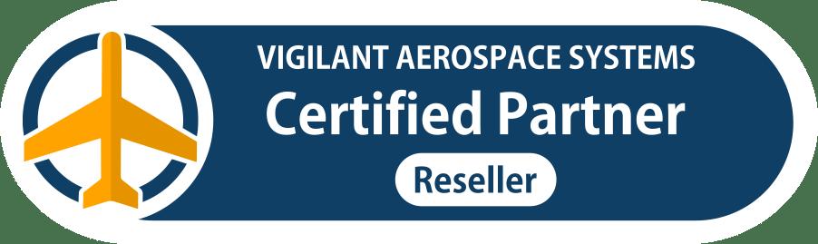 Vigilant Aerospace Certified Reseller Partner web badge