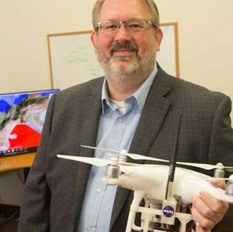 Vigilant Aerospace CEO, Kraettli Epperson with drone