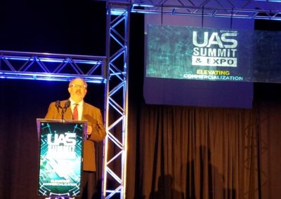 CEO, Kraettli Epperson, speaking at the 2018 UAS Summit & Expo
