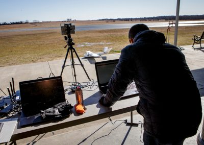 Setting up. FlightHorizon radar integration flight test at Oklahoma State University