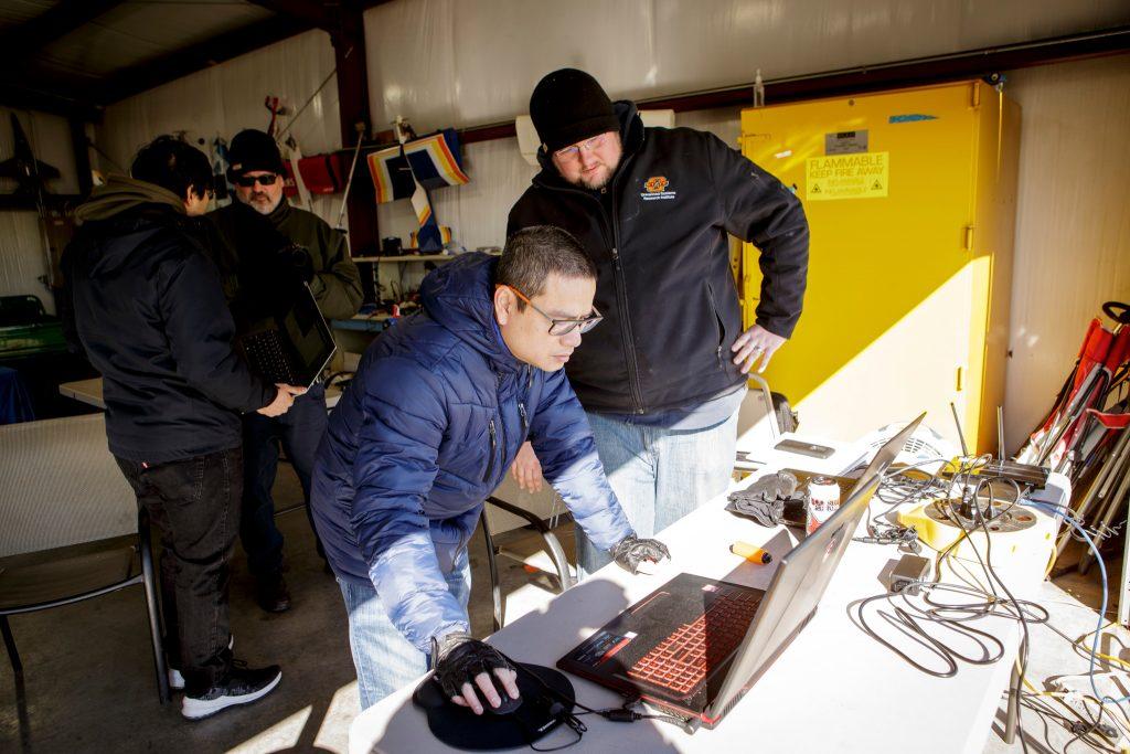 Setting up. FlightHorizon radar integration flight test at Oklahoma State University