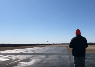 UAS landing. FlightHorizon radar integration flight test at Oklahoma State University